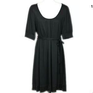 The Limited 3/4 Sleeve Dress Beaded Black Small